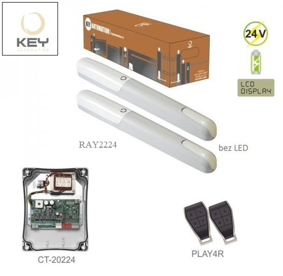 KEY RAY2224, 2x RAY2224 bez LED (24V, 85W, 1500N), 1x CT-20224 so zabudovaným