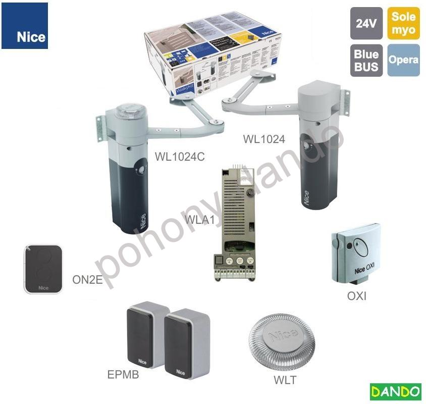 Walky Kit2024 24V,120W,100Nm;1x 1024C s el. WLA1BlueBus 1x WL1024,1x OXI,1x