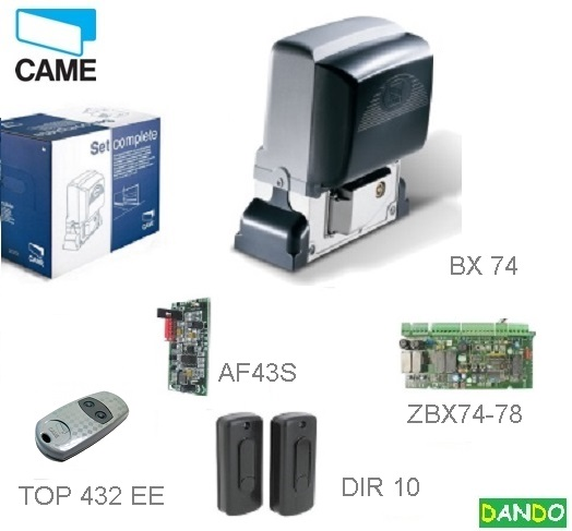 CAME  BX-74 KIT - 1x BX-A, 1x ZBX-7, 1x DIR-10, 1x AF-43-S, 1x TOP-432-EV