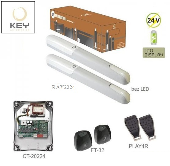 KEY RAY2224KR, 2x RAY2224 bez LED, 2x PLAY4R, 1x CT-20224,1x FT-32,