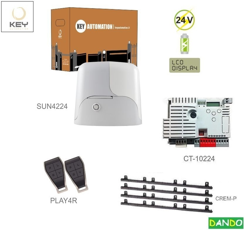 KEY SUN4224-ZH1x SUN4224(24V,250W,13Nm),1x CT-10224,2x PLAY4R,4xCREM