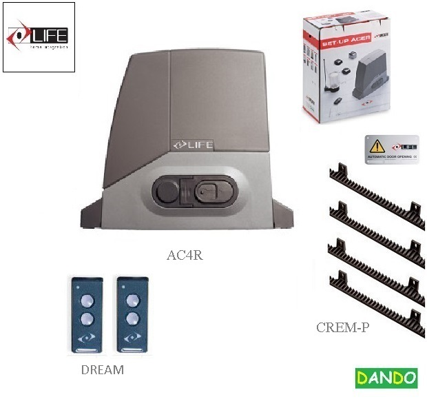 LIFE AC4R EASY - 1x AC4R, 2x DREAM, 4xCREM-P  - sada do 400 kg