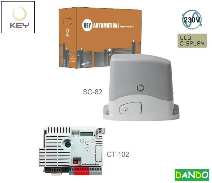 KEY SC-82 230V,  do 800kg s elektronikou CT-102, bez prijímača