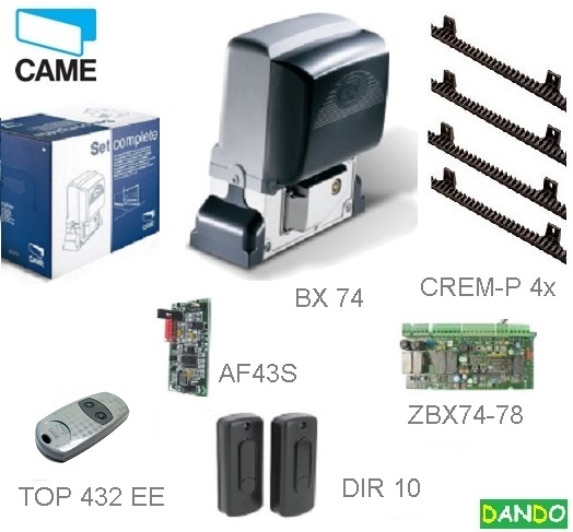 CAME  BX-74 KIT - 1x BX-A, 1x ZBX-7,1x DIR-10,1x AF-43-S,1x TOP-432-EV,4x CREMP