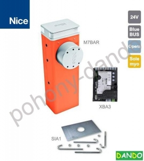 NICE M7BAR do 7m prejazdu (24V, 150W, 300Nm) s elektronikou XBA3, 1x doska SIA1,