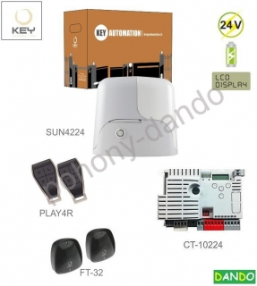 KEY SUN4224-E 1x SUN4224 (24V, 250W, 13Nm), 1x CT-10224, 2x PLAY4R, 1 pár, FT-32