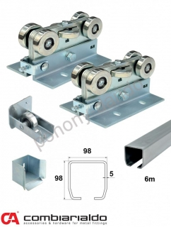 C Set-M/Zn-E MEDIO-EKHO (98x98x5mm) do 500kg/ otvor 6.5m